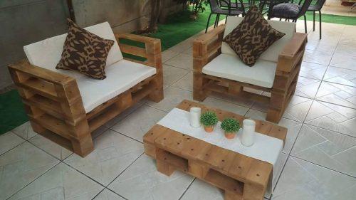 Evde, dışarıda kullanışlı palet koltuklar