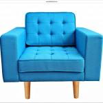 Modern mavi tekli koltuk 008