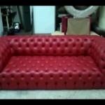 Özel kırmızı chester koltuk i̇malatı