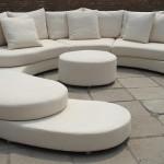 Dekoratif beyaz deri ofis koltukları