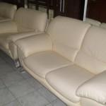 Lüks beyaz deri ofis koltukları