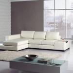 Modern beyaz deri ofis koltukları