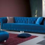 Yeni chester mavi koltuk takımları