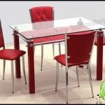 Kremkırmızı mutfak sandalyesi modelleri