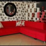 Kırmızı köşe koltuk takımı resimleri