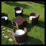 Balkon için koltuk takımı modelleri