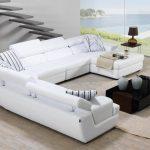 Beyaz köşe koltuk takımı