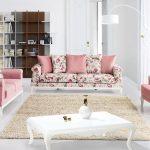 Pembe çiçekli koltuk takımı modelleri