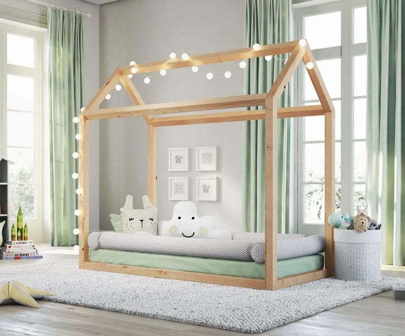 Montessori Bebek Yatağı & Çatılı Yatak