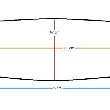 Oval beşik yatagi 85x47