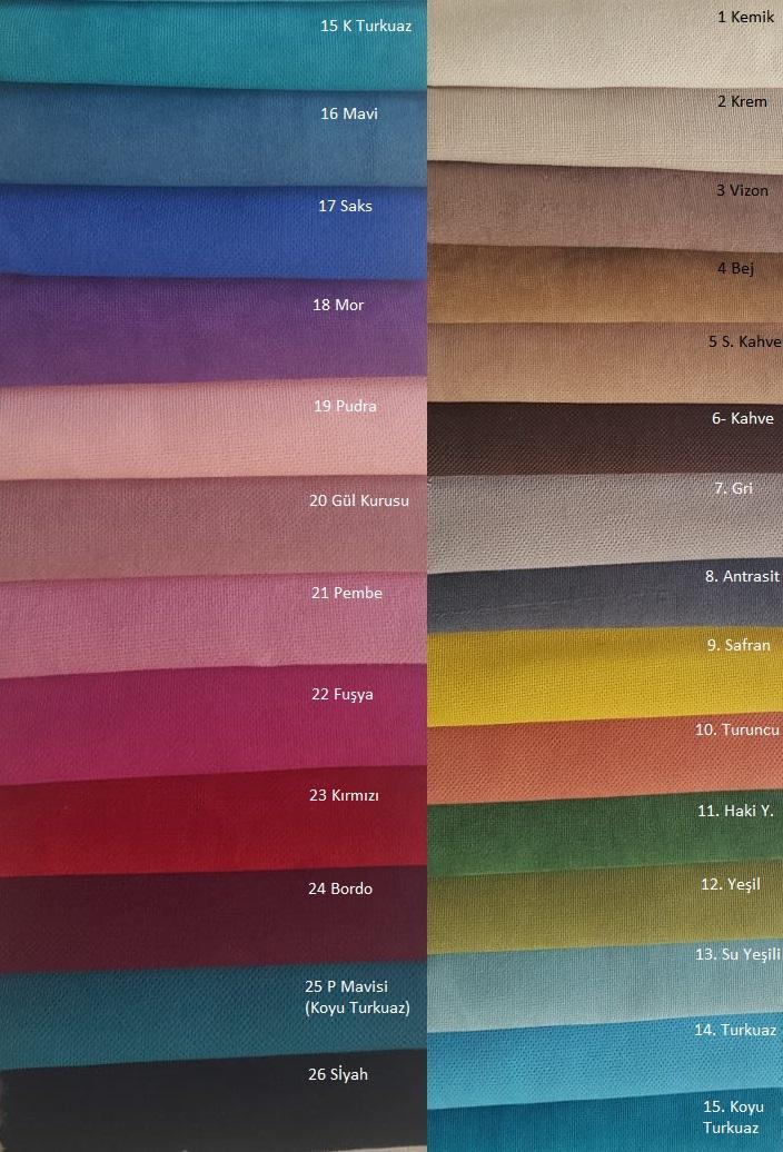 Tek renk döşemelik kumaşlar