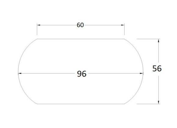 Oval Bebek Yatağı 56×96(60)
